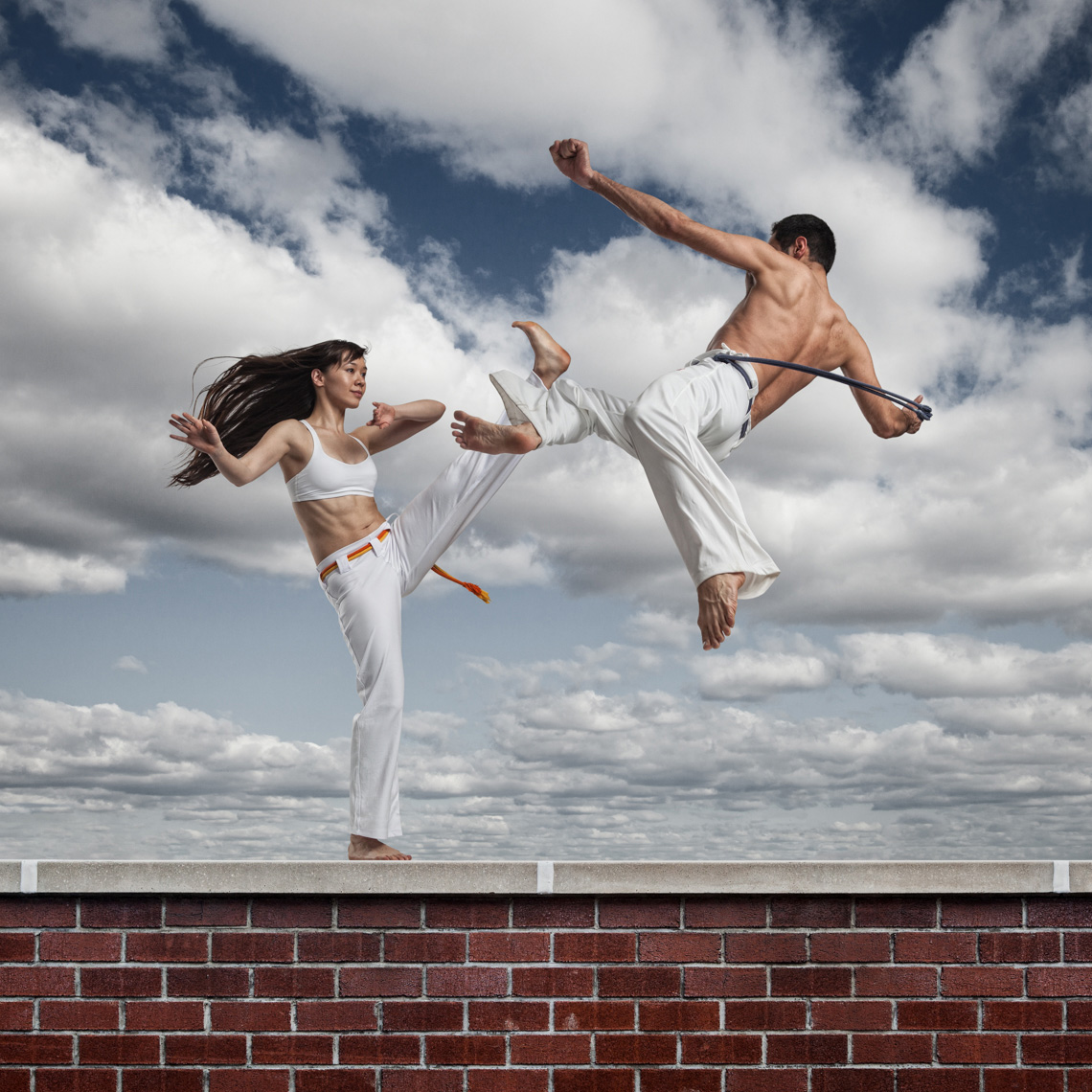 Kitfox Valentín : Capoeira Fitness on the Roof in Brooklyn